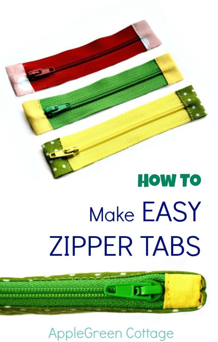 How To Shorten A Zipper - And Add Zipper Tabs