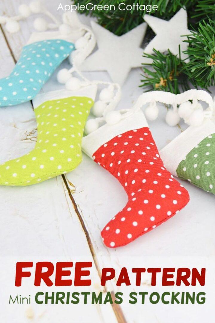 Mini Christmas Stocking - Diy Christmas Garland