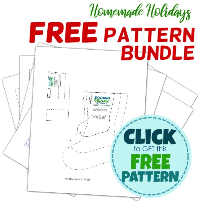 free christmas stocking template