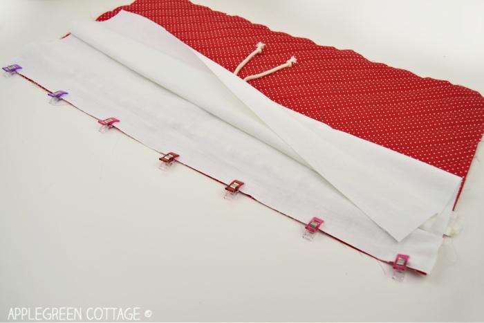 sewing Santa bag