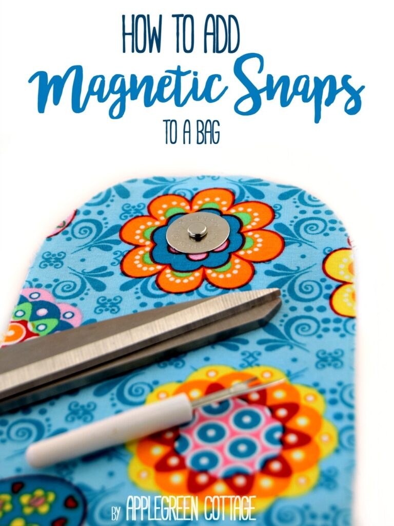 How To Add Magnetic Snaps To a Bag