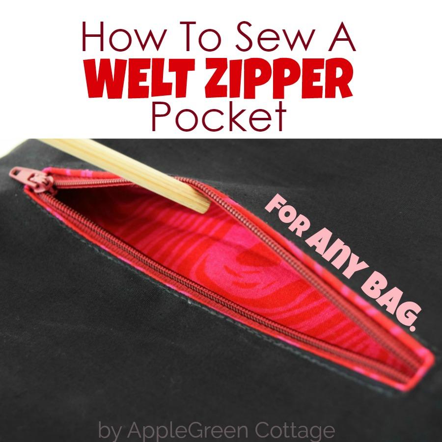 How To Sew Welt Pocket