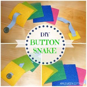 How To Sew a Felt Button Snake