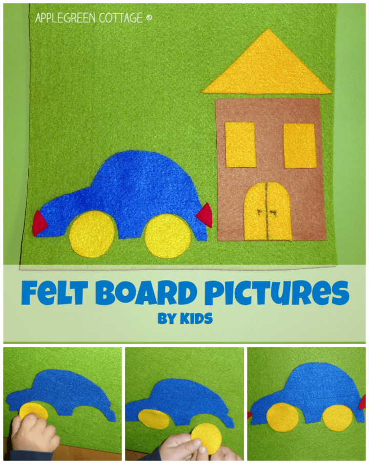 DIY Felt Board Pictures - Game Time!