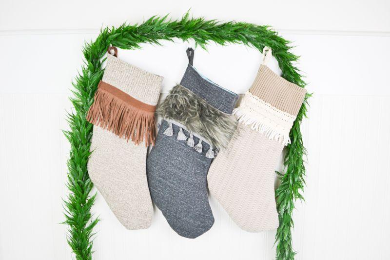 upcycled Christmas stockings