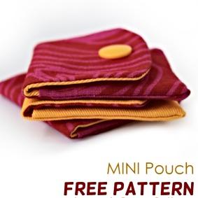Mini Pouch Free Pattern