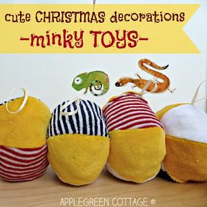 Soft DIY Minky Toys - On Christmas Tree