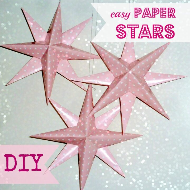 How to Make Glamorous Paper Stars For Your Party