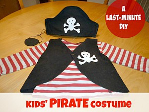 How to make a PIRATE costume for kids
