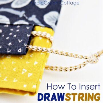 how to insert drawstring