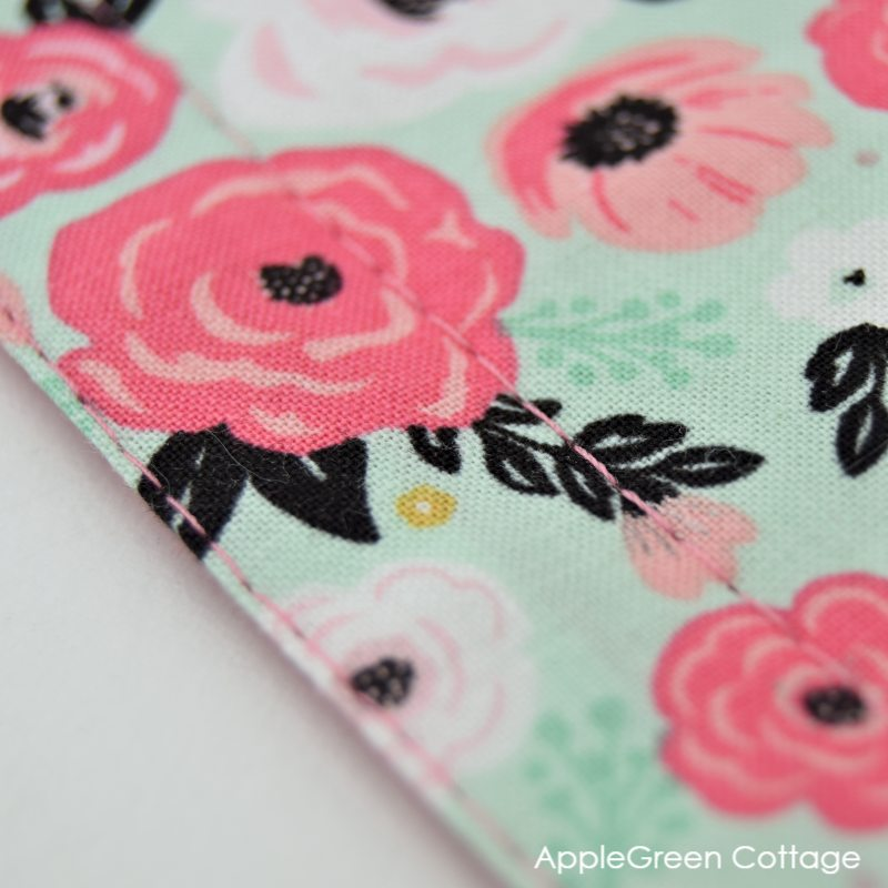 topstitching a placemat