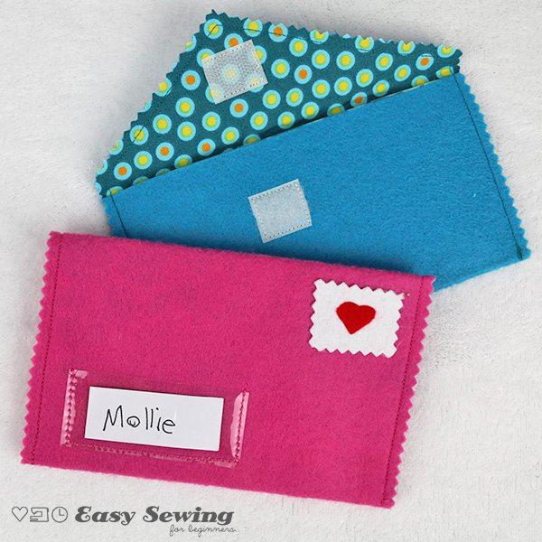 diy Valentines gift envelope