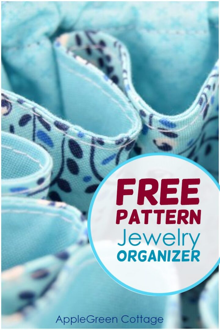 Diy Jewelry Organizer - Free Sewing Pattern