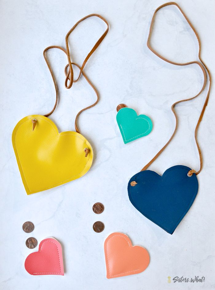 diy Valentines heart pouch