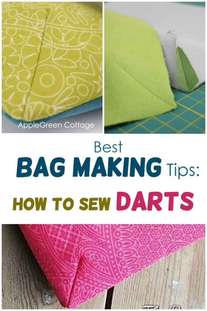 how to sew a dart on bag