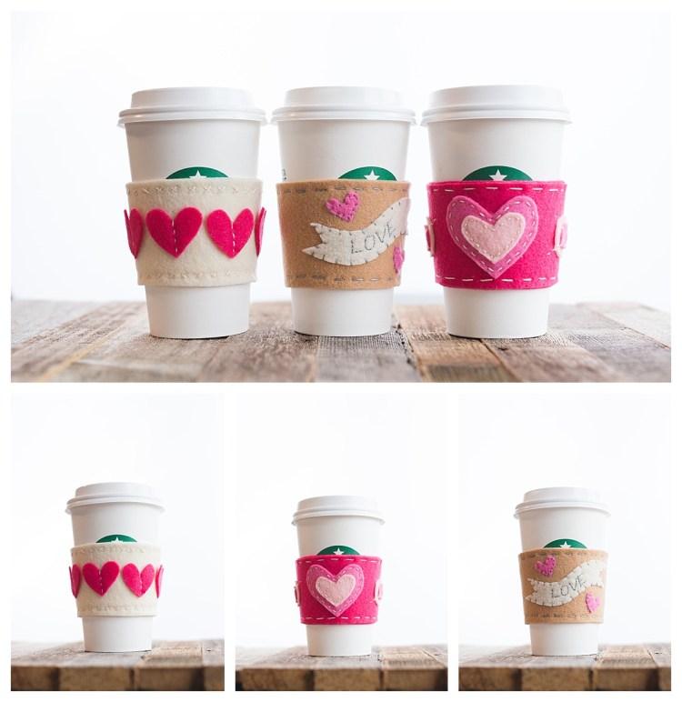 diy Valentines coffee sleeves