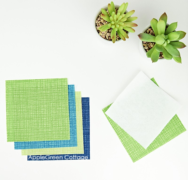 cut fabric for coasters