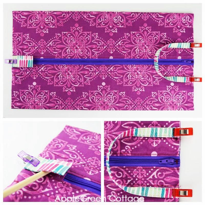 add handle to diy storage bag