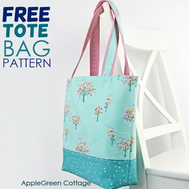 Tote Bag Pattern Free Tote Pattern In 2 Sizes Applegreen Cottage