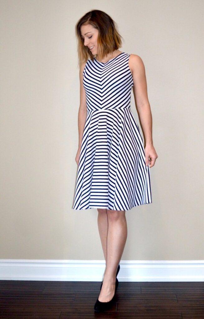 striped free dress pattern