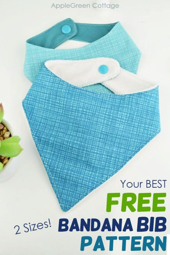 Free Bandana Bib Pattern – In 2 Sizes!