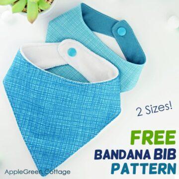 free bandana bib pattern