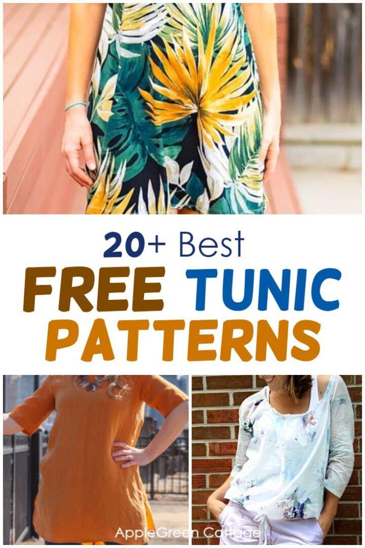 20+ Best Free Tunic Patterns To Sew