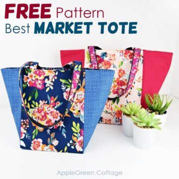 Market Bag Pattern - How To Make A Tote Bag