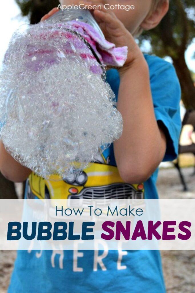 bubble snakes making
