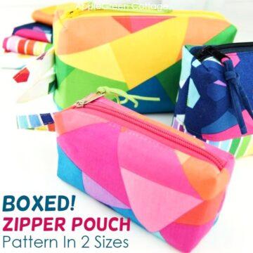 BOXED! Zipper Pouch Pattern - Free Pattern in 2 Sizes