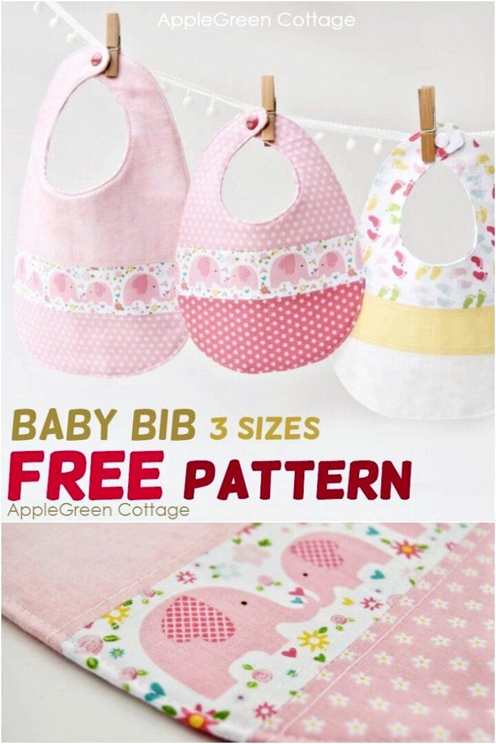 Baby Bib Pattern - The Best Free Baby Bib Pattern in 3 Sizes
