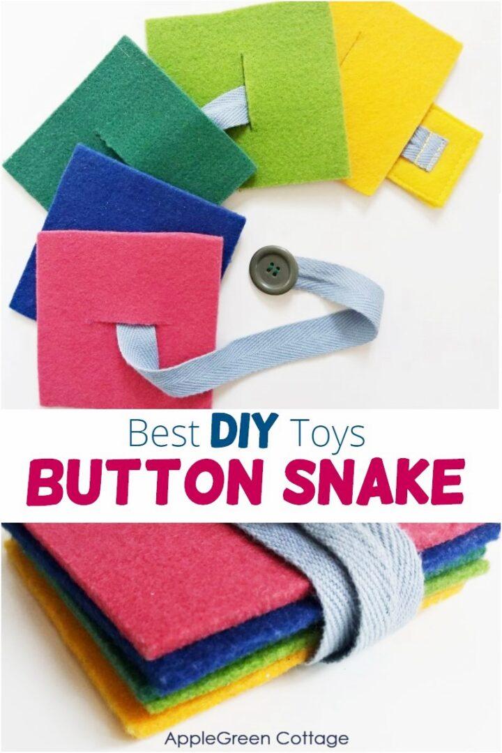 Diy Felt Button Snake - Best Diy Toys To Make!