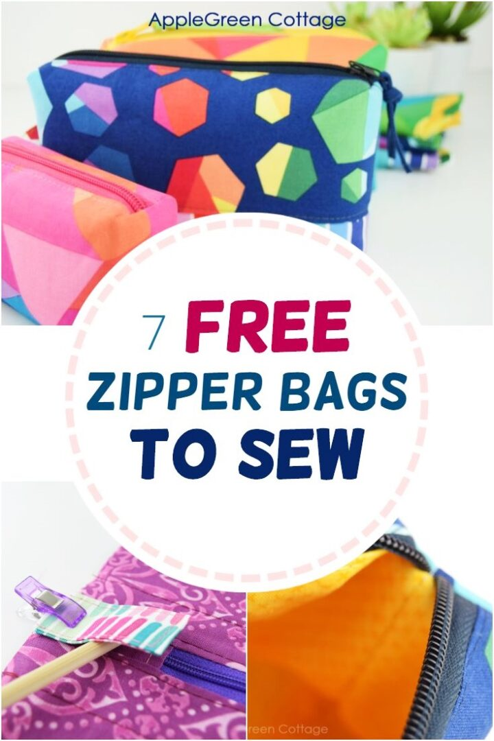 7 Absolutely Free Zipper Bag Patterns You'll Love