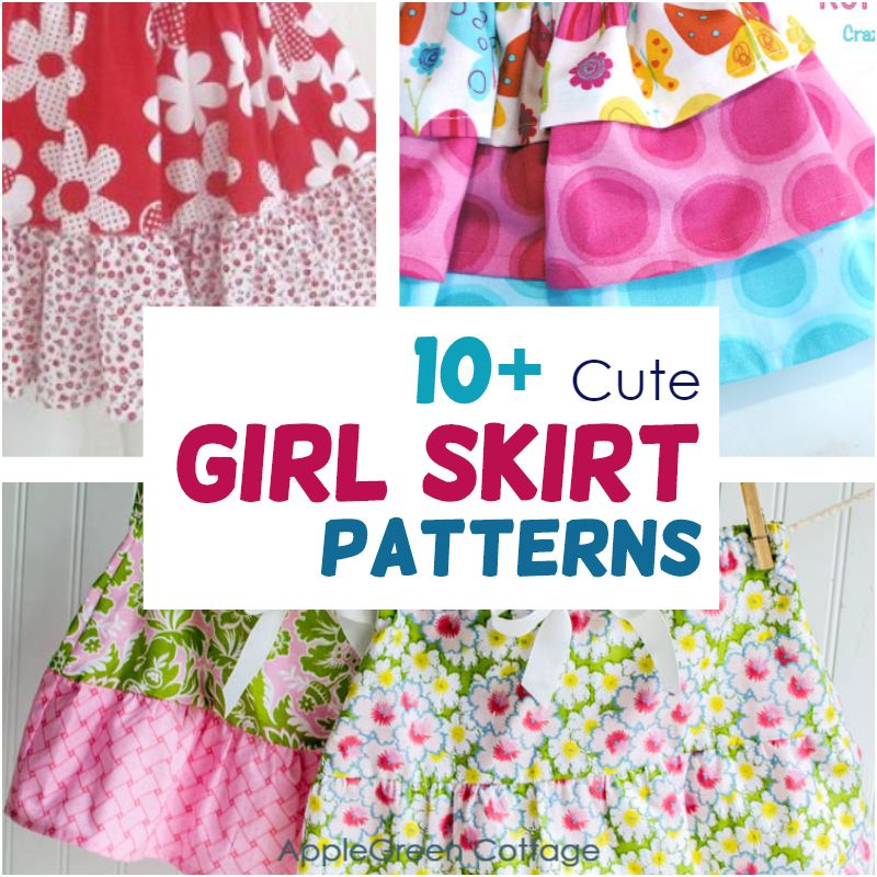 girl skirt patterns