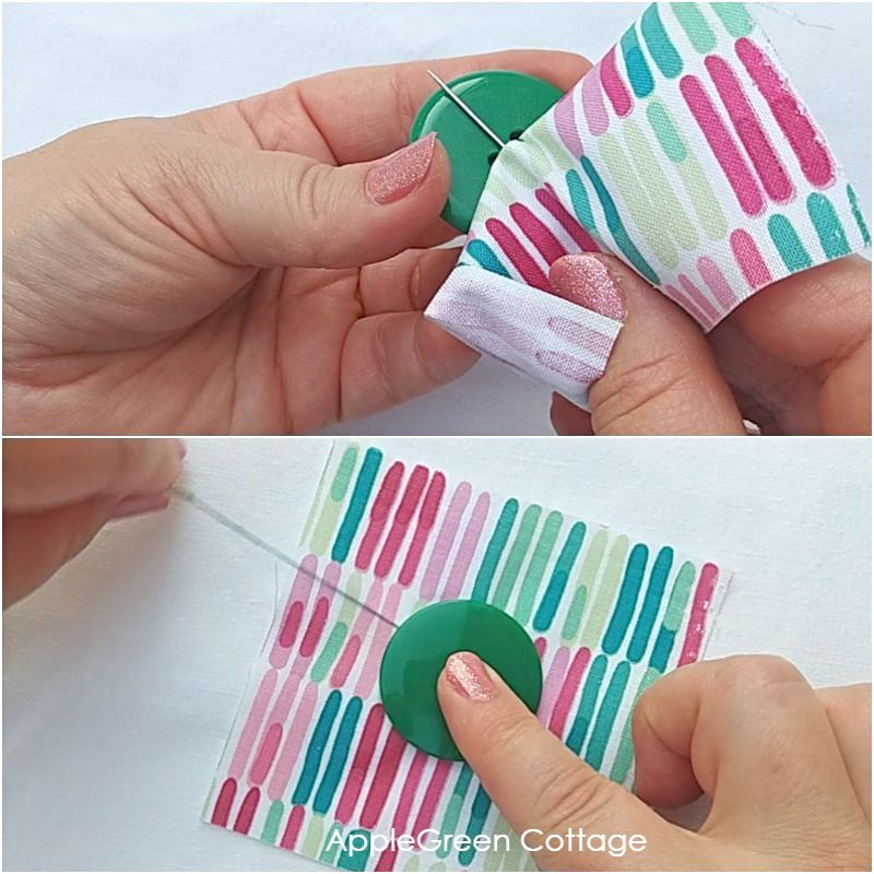 how to handstitch a button