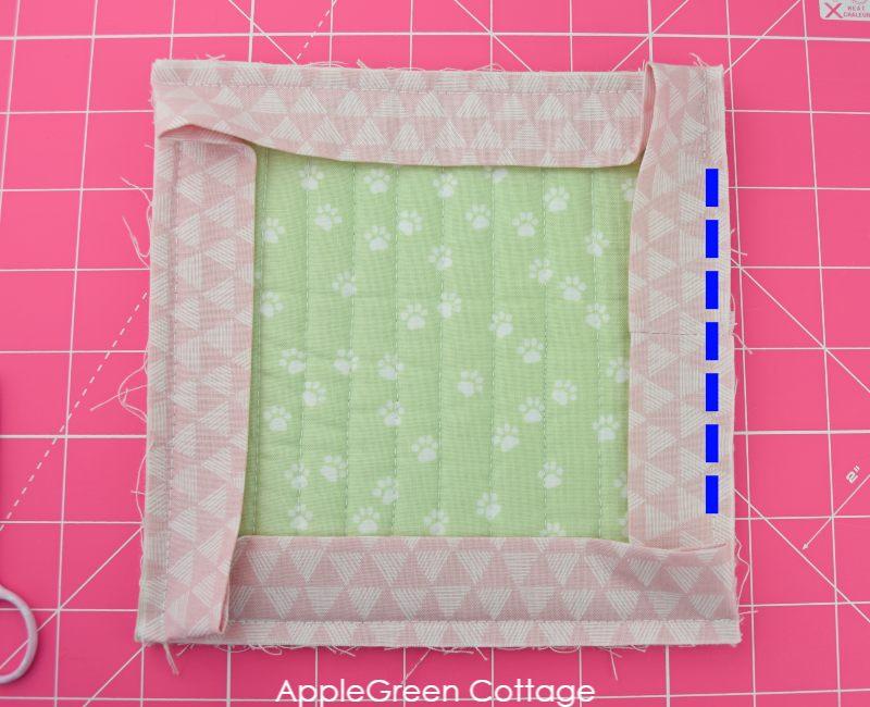how to sew mitered corners