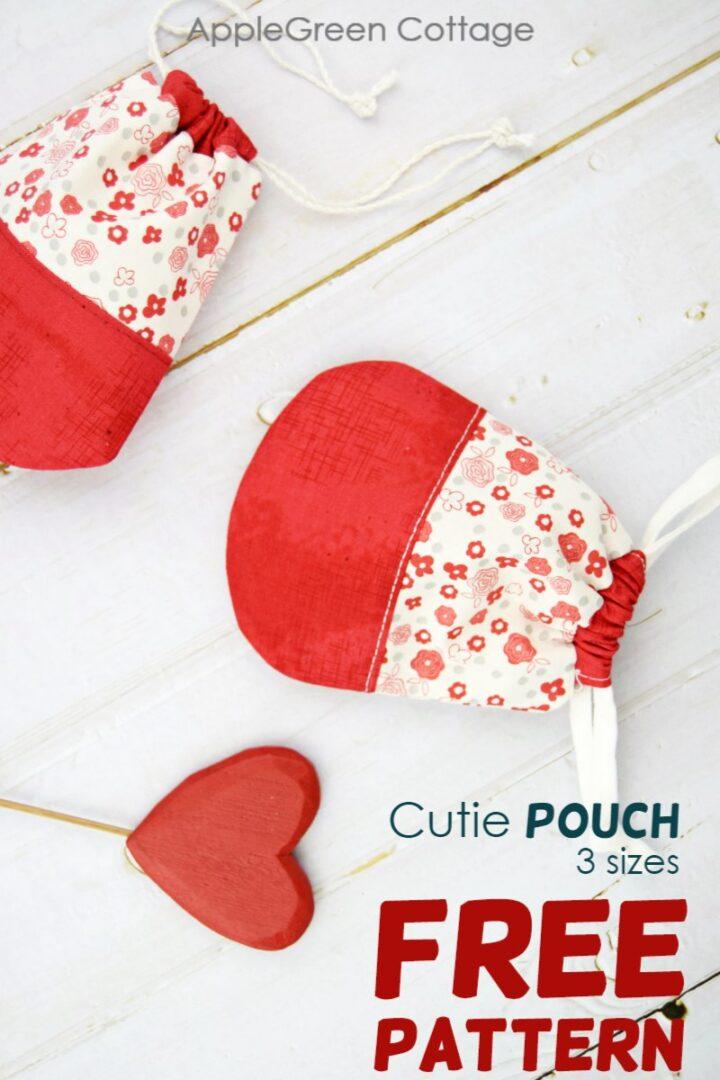Free Drawstring Pouch Pattern - Cutie!