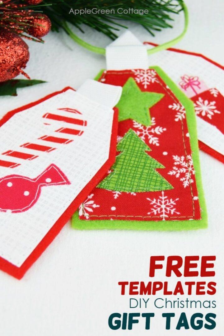 Diy Christmas Gift Tags - Free Sewing Templates