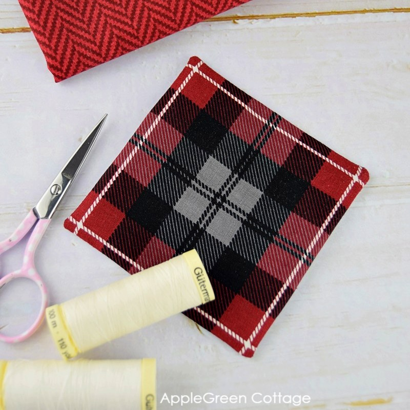 a diy applique made with tartan pattern