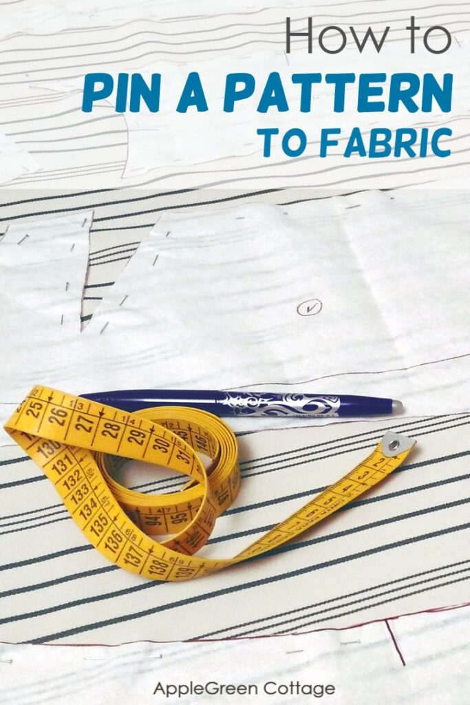 how to pin a pattern to fabric