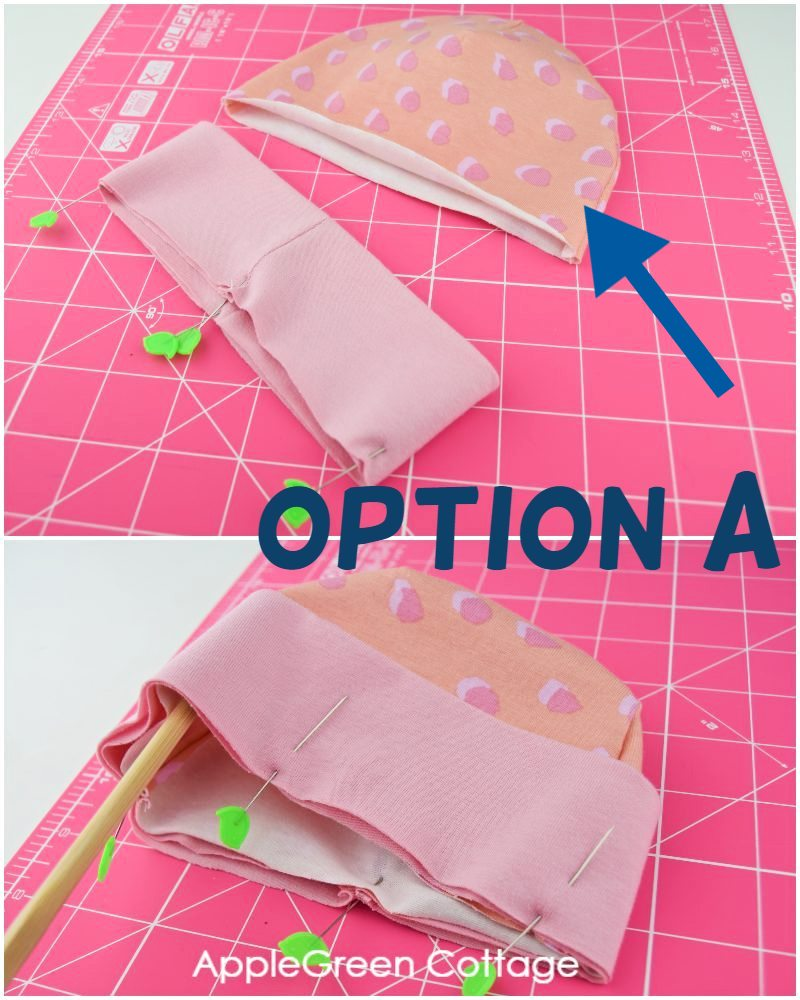 standard baby hat sewing step