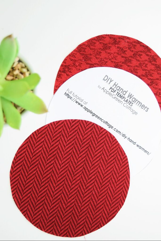 round hand warmer printable template