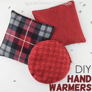 diy hand warmers with rice