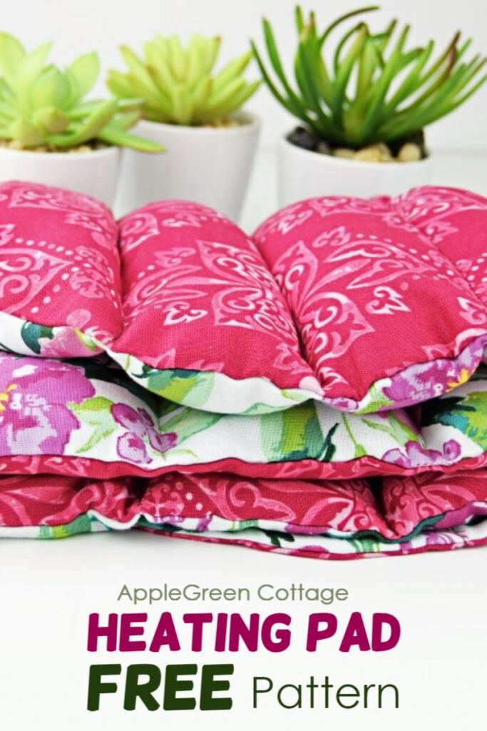 red diy heating pad to sew