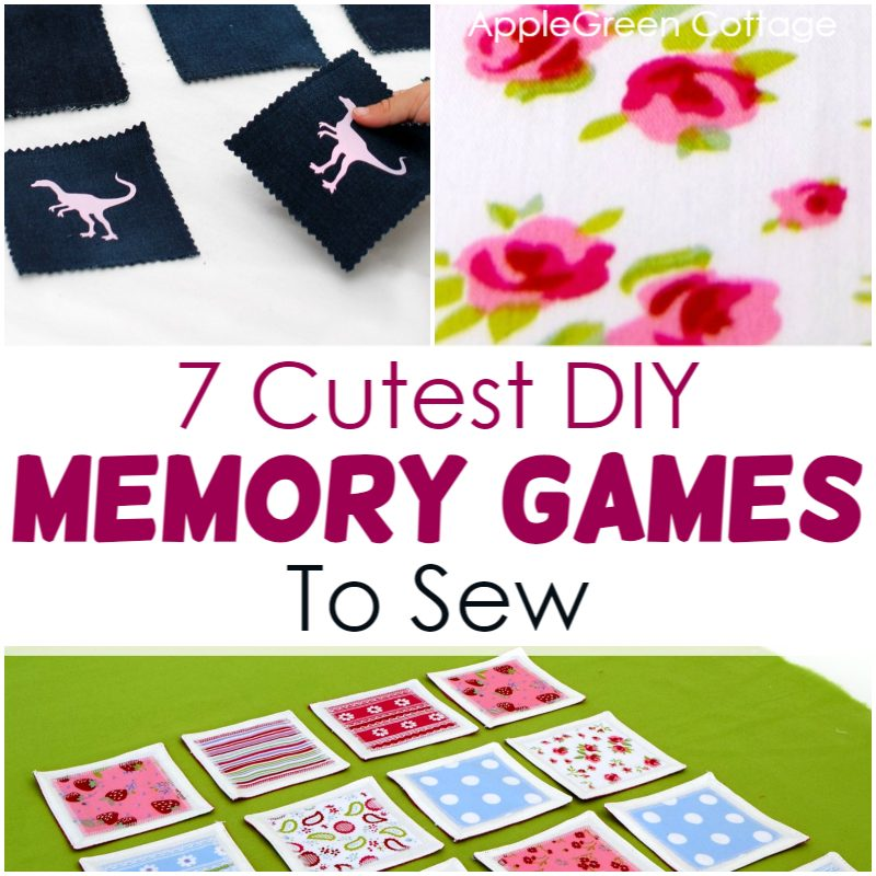 diy memory games to sew