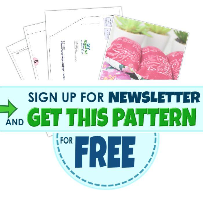 get diy heating pad pattern for free