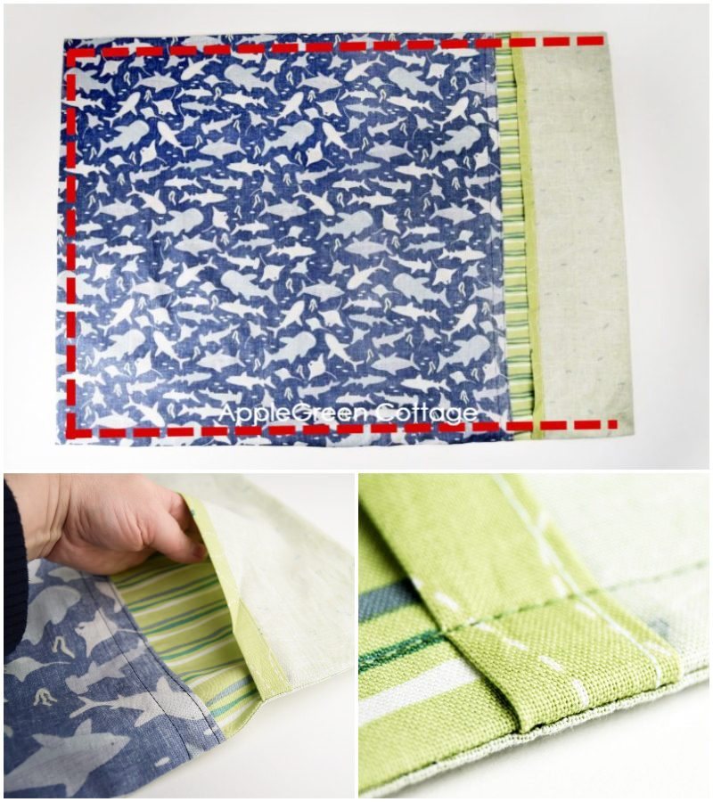 making an envelope pillowcase with French seams