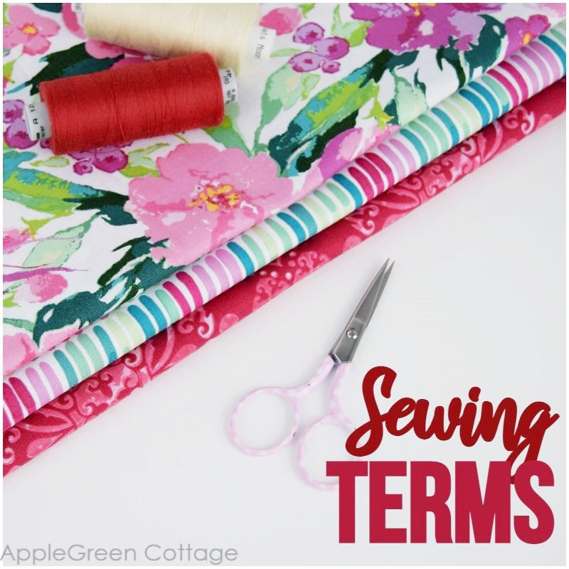 sewing terms explained