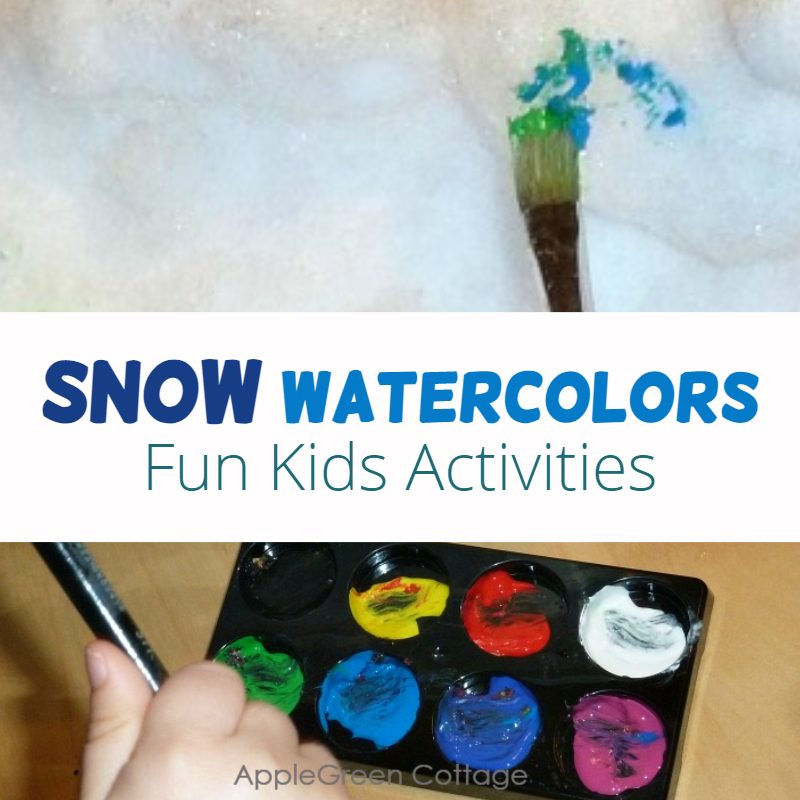 snow watercolors