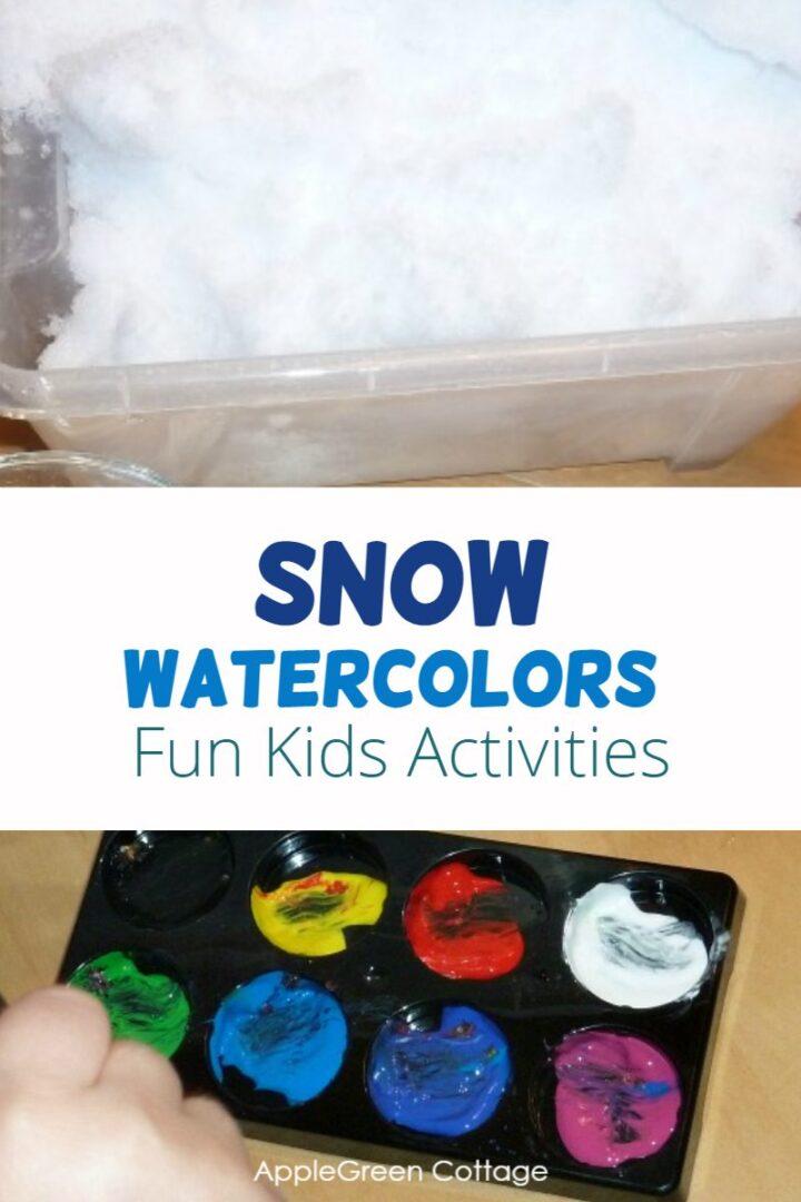 Snow Watercolors - Fun Winter Kids Activities